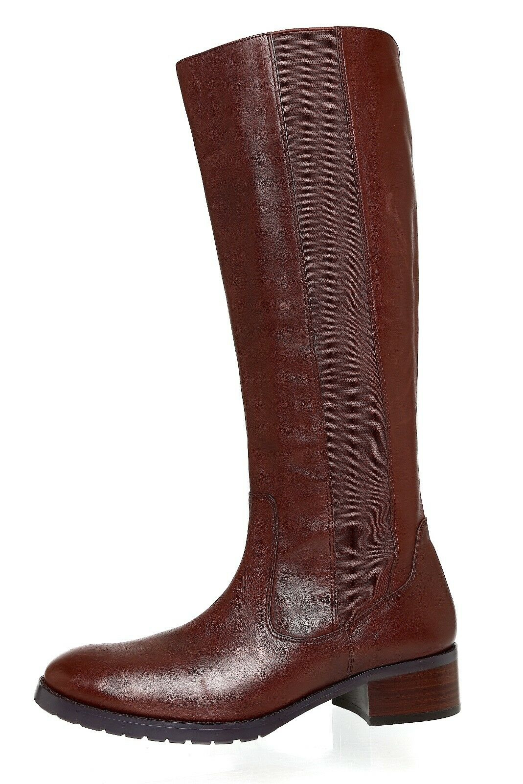 Donald J Pliner Buriel Leather Riding Boot Brown Women Sz 8 M 4051