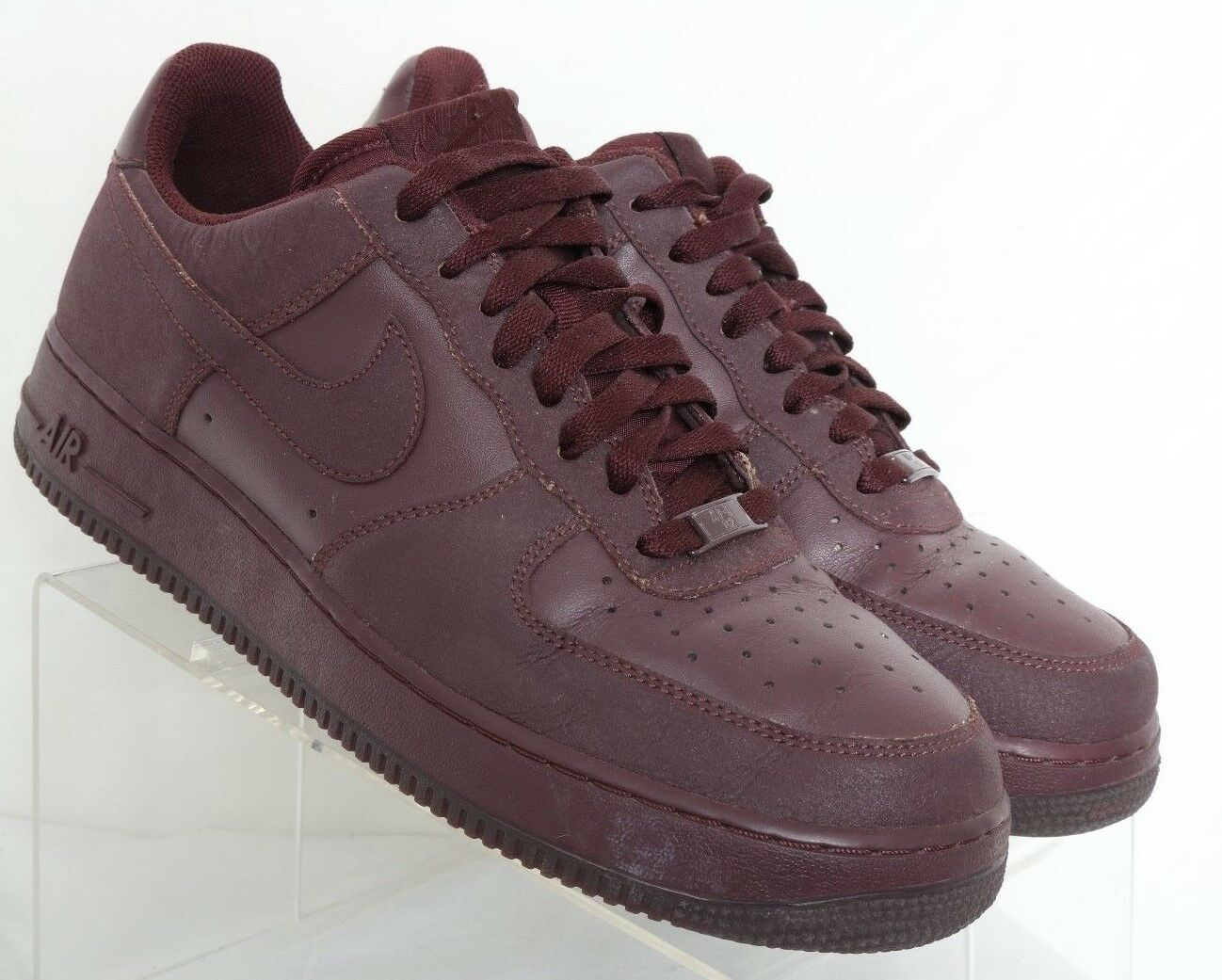 Nike Air Force 1 Tec Tuff Burgundy Athletic Sneaker 315122-605 Men's US 10.5