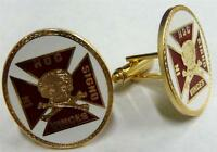 Templar Knights Crusaders Crusades Skull Crossbones Lodge Cufflinks Cuff Links