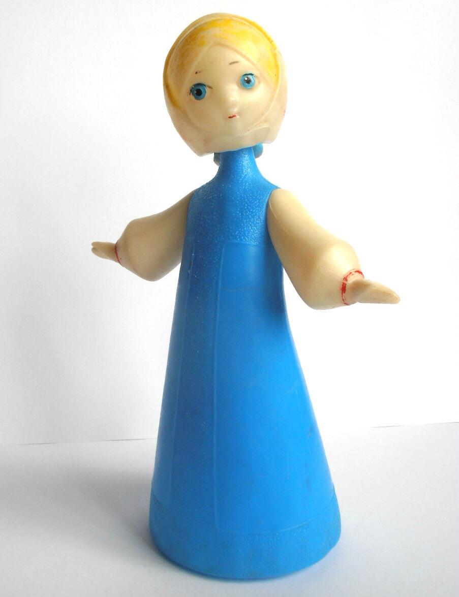 1960s USSR Russian Soviet Large Größe Plastic Doll Girl  ALENUSHKA