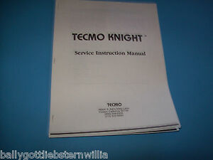 Tecmo-TECMO-KNIGHT-VIDEO-ARCADE-GAME-PARTS-SERVICE-INSTRUCTION-MANUAL