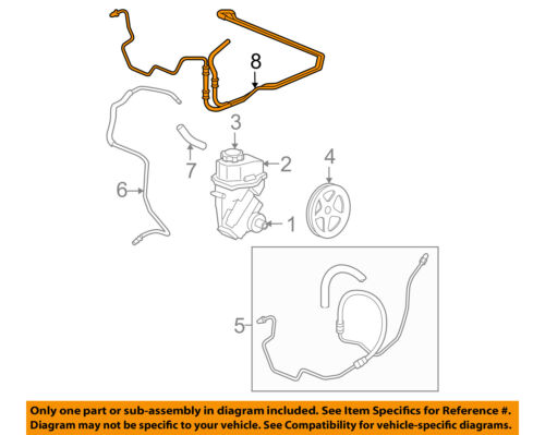 2006-2011 IMPALA MONTE CARLO POWER STEERING COOLER HOSE NEW GM #  20957915