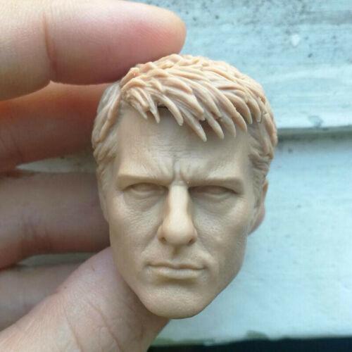 "1//6 Scale Blank Head Sculpt Tom Cruis Edge Of Tomorrow Unpainted Fit 12/"" body"