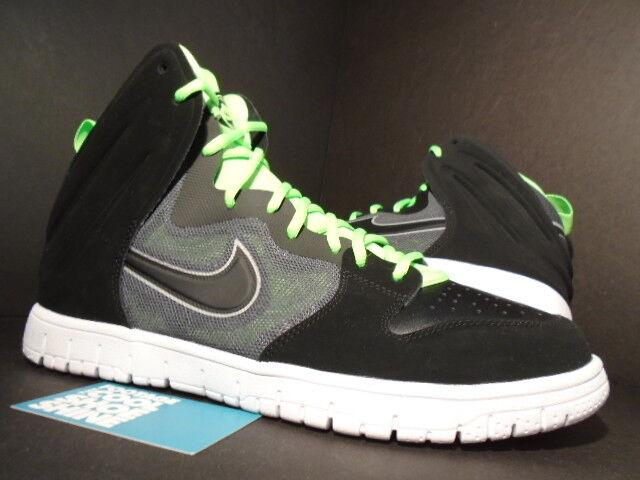 Nike Dunk High FREE BLACK GREEN REFLECT SILVER FLASH LIME GREEN BLACK WHITE 599466-001 DS 11 b5dc0a