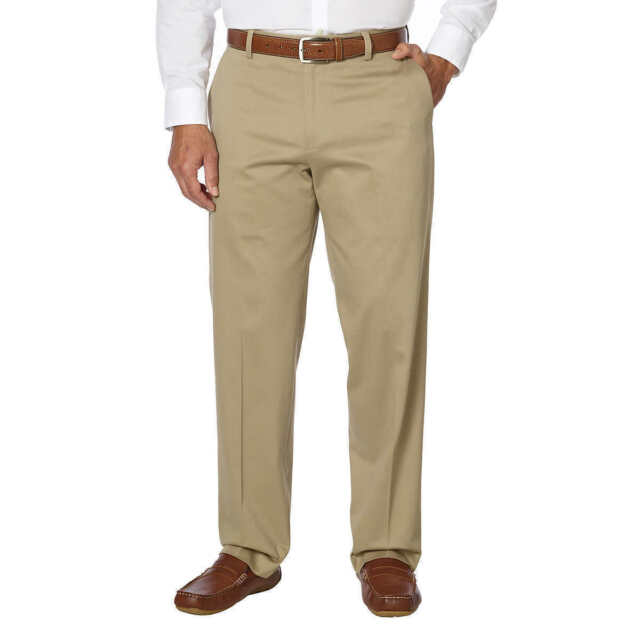 Kirkland Signature Men/'s Classic Fit Non Iron Comfort Pant