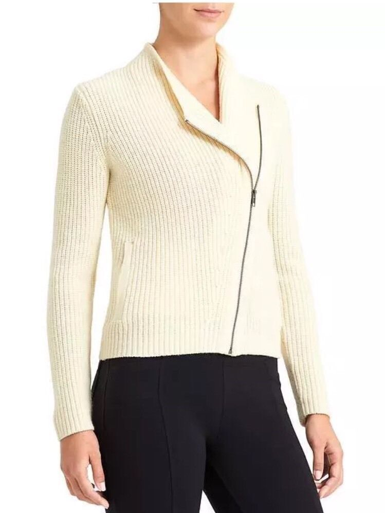 NWT ATHLETA Merino Wool Stowe Cardigan in Dove SZ S  SOLD OUT