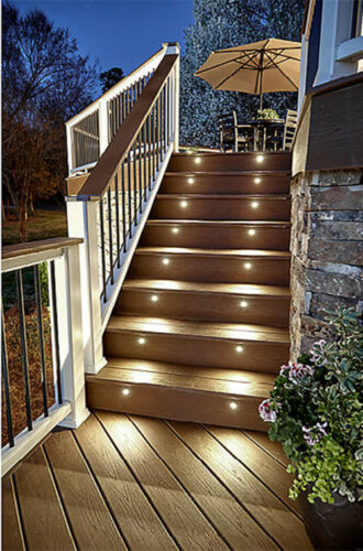 6X19mm 12V LED Deck Step Lights Outdoor Garden Path Patio Yard Plinth Lighting