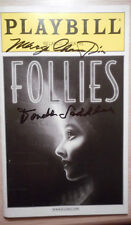 Marge Champion & Donald Saddler (only)  signed  Playbill Follies  Blythe Danner