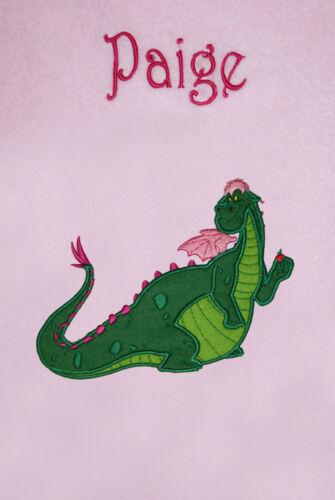 Elliot Pete/'s Dragon Personalised Applique Soft Fleece Blanket