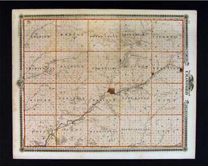Audubon Iowa Map.1875 Iowa Map Crawford Audubon County Exira Louisville Denison