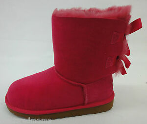 2d2e4e6b33a Details about UGG Kids/Girls Bailey Bow Boots 3280Y Cerise Size 5