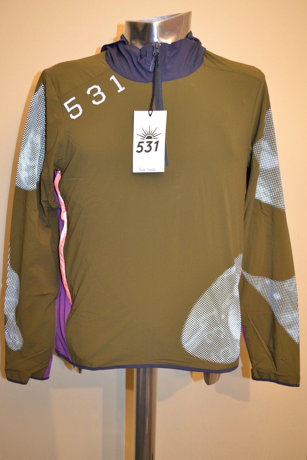Paul Smith 531 Khaki Showerproof Cycling Hoodie Größe XL New