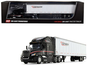 Freightliner Cascadia High Roof Sleeper Cab with 53 Wabash DuraPlate Dry Goods Trailer Fleetmaster Black and White 1//64 Diecast Model by DCP 34234
