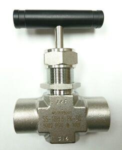 2-pcs-Swagelok-SS-18RF8-PK-SG-1-80-Cv-1-2-034-316SS-Integral-Bonnet-Needle-Valve