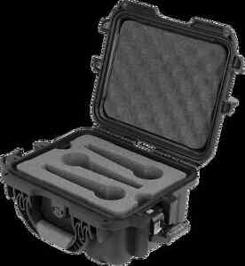 Gator - GM-06-MIC-WP - Waterproof Injection Molded Case for 6 Microphones Black
