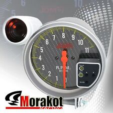 New Jdm Sport Universal 5 Inch 120MM 11K RPM Tachometer Led Gauge Carbon Fiber