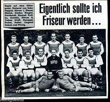 Rapid Wien--Mannschaftsbild--Mit Happel--Fussball--Zeitungsausschnitt von 1967