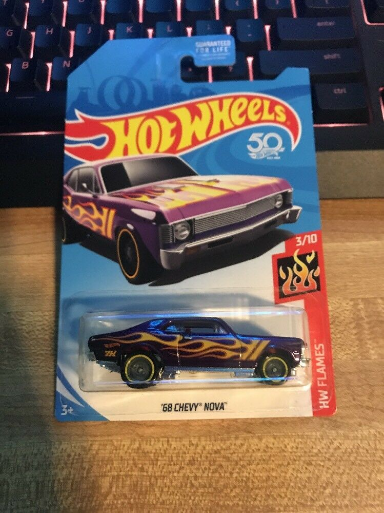 Hot Wheels 2017 súper Treasure Hunt 1968 68 Chevy Nova