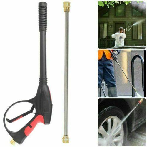 High Pressure 4000PSI Car Power Washer Spray Gun Wand Lance Nozzle Tips Hose Kit