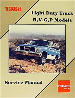 1988 Chevy RVGP R V G P TRUCK Service Shop Repair Manual FACTORY DEALERSHIP OEM