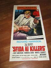 LOCANDINA,A 077, sfida ai killers,spy,Antonio Margheriti,1966,Harrison,Guida