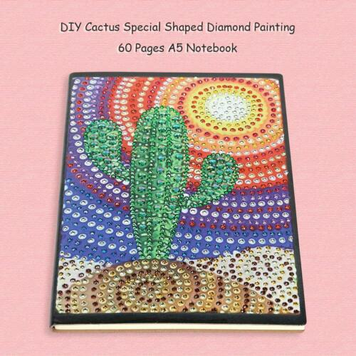 5D DIY Special Shaped Diamond Painting 60Pages A5 Notebook Diary Book Sketchbook