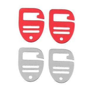 4 Pcs 1/'/' Hook Outdoor Adjust Webbing Buckle Backpack Strap Clip 25mm Black