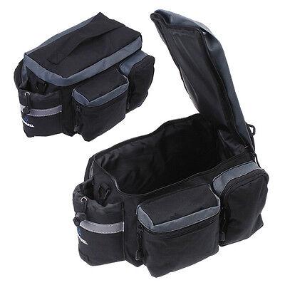 New Cycling Bicycle Bike Pannier Rear Seat Bag Rack Trunk Shoulder Handbag Black