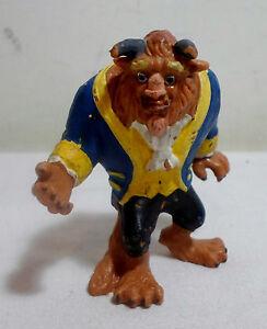 Vintage Disney/'s Beauty and the Beast PVC Figure BEAST Rare PVC Cake Topper Figure 90s Lot 3
