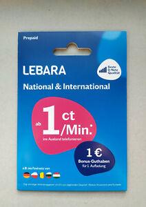 Lebara-DE-49-Prepaid-SIM-3-in-1-Sim-Aktiviert-amp-Registriert