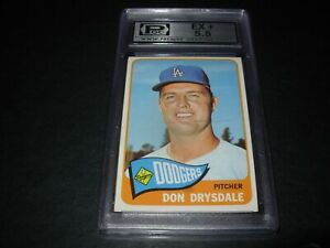 1965-Topps-baseball-260-Don-Drysdale-HoF-Los-Angeles-Dodgers-graded-PGC-ex-5-5