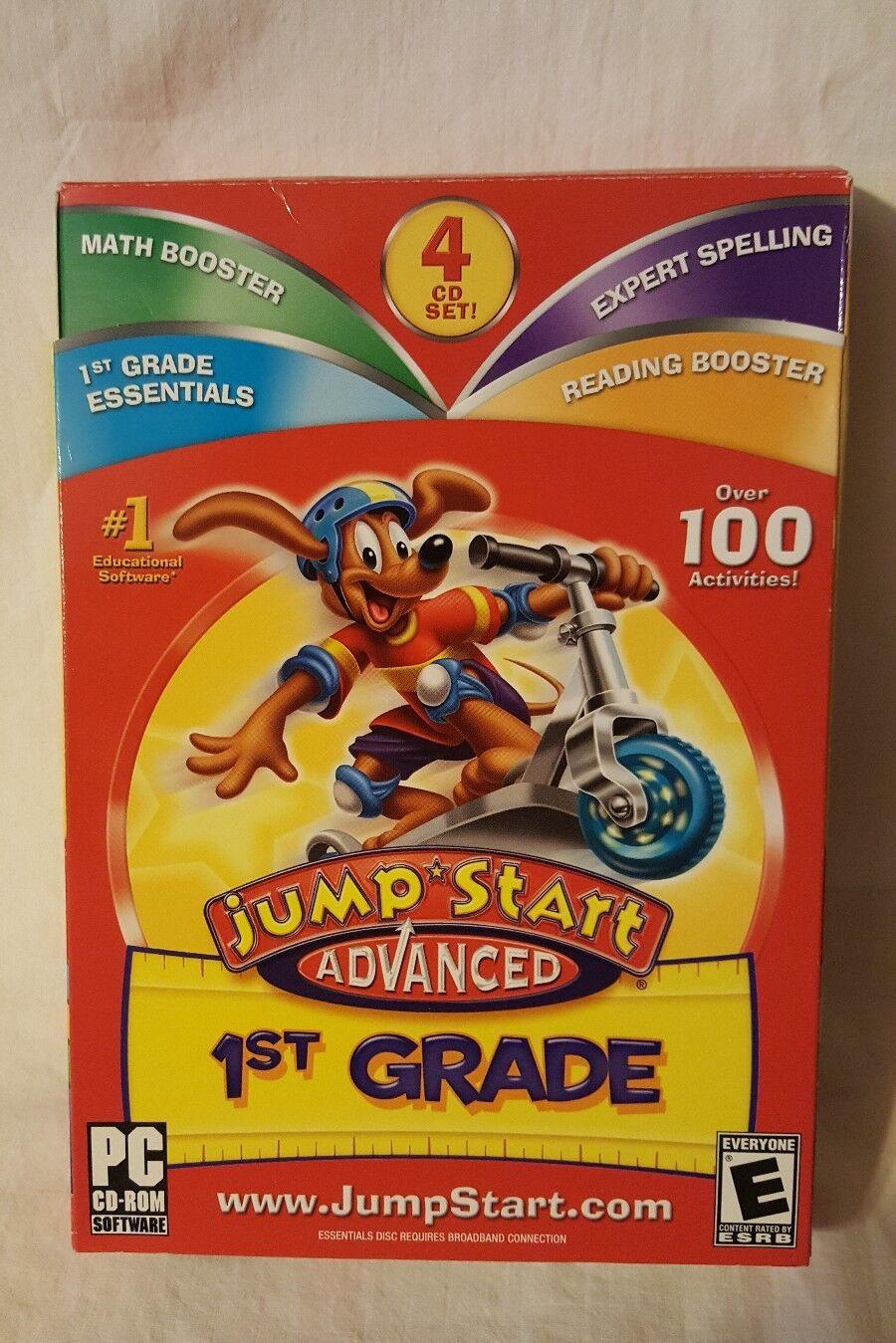 Jump Start Advanced 1st Grade PC CD ROM 4 Disc Set #1 Educational