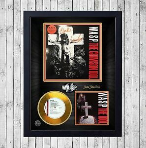 W-A-S-P-WASP-CRIMSON-IDOL-CUADRO-CON-GOLD-O-PLATINUM-CD-EDICION-LIMITADA-FRAMED