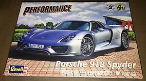 revell porsche 918 spyder 1 24 model car kit new 4329 ebay. Black Bedroom Furniture Sets. Home Design Ideas