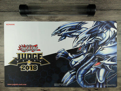 2018 YuGiOh Legendary Dragon of White /& Blue-Eyes White Dragon Playmat Free Tube