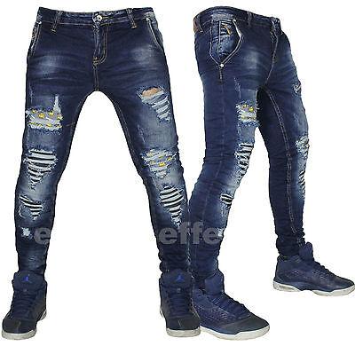 Velo Pickering Disciplina  Jeans uomo strappati Denim Smile pantaloni slim elasticizzato vita bassa  3124   eBay