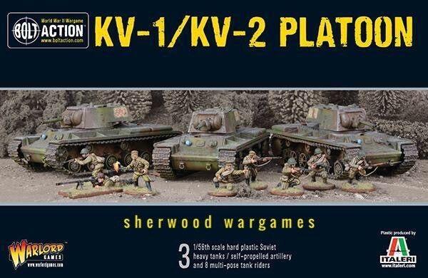 28mm Warlord Games Soviet KV-1   KV-2 Platoon (3tanks) Bolt Action BNIB, WWII