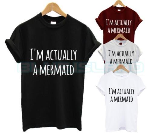Je suis en fait une sirène T Shirt Gang Fantasy Tumblr Fashion Swag Dope Unisexe Nouveau