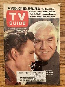 N New England TV GUIDE MARCH 1968 BONANZA LORNE GREENE DAVID CANARY