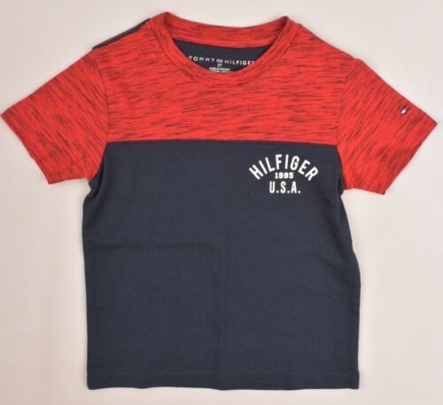 size 2 years Red//Navy TOMMY HILFIGER Boys/' Kids/' Colour Block T-Shirt