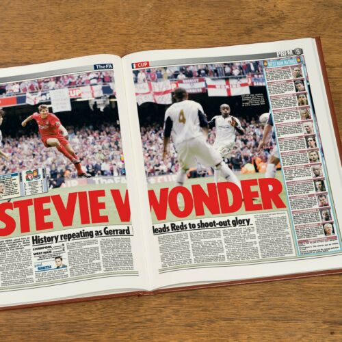 Personalised A4 Football Newspaper History Book Arsenal Manchester Father Gift