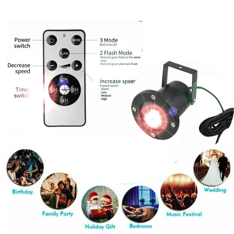 Details about  /2PCS USB Colorful Projector Lamp Car Sound Control Decorative Night Light Romant