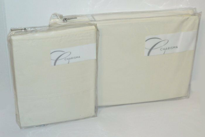 Charisma Gosford Pearl Egyptian Cotton King Fitted & Pillowcases Set New 500TC
