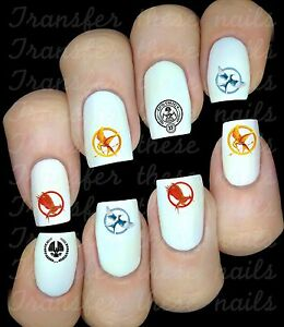 HUNGER-GAMES-Autocollant-Stickers-ongles-nail-art-manucure-water-decal