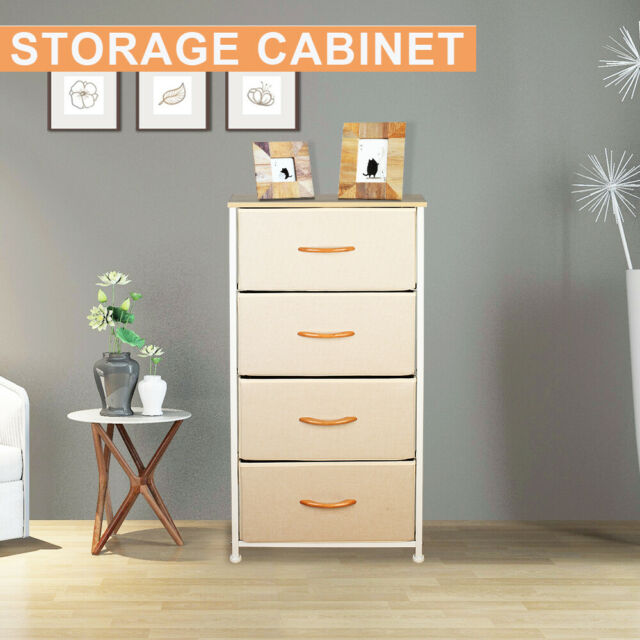 Easy Pull Fabric Bins Office Organization Hallway Dresser Organizer with 7 Drawers Closet Furniture Storage Tower Unit for Bedroom Steel Frame Wood Top Brown