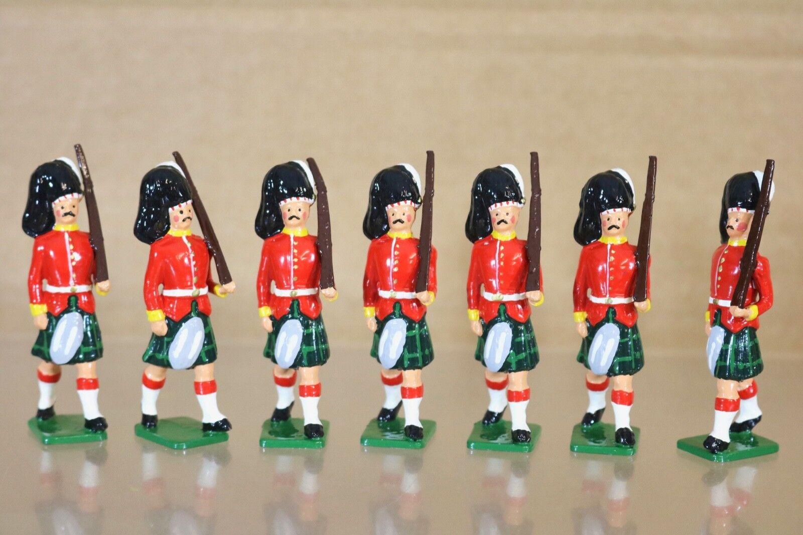 Britains Re Schloss 7 X Gordon Highlander Soldaten Marsch At The Hang 1900 Nq