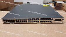 Cisco WS-C3750X-48P-E PoE+ IP SERVICES LICENSE Ten Gigabit 3750X-48P-E switch
