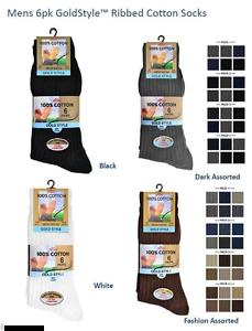 51b7b09ca 12 Pairs Mens Boys Aler Gold Style 100% Cotton Ribbed Socks
