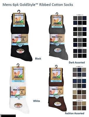 6 OR 12 Pairs Mens Aler 100/% Cotton NON ELASTIC Soft Top BLACK Socks  Size 6-11