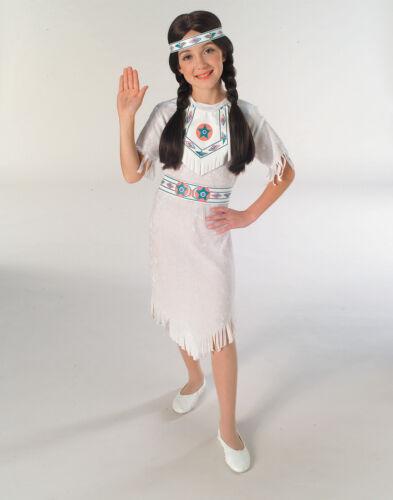 Girls Indian Classic White Native American Princess Costume